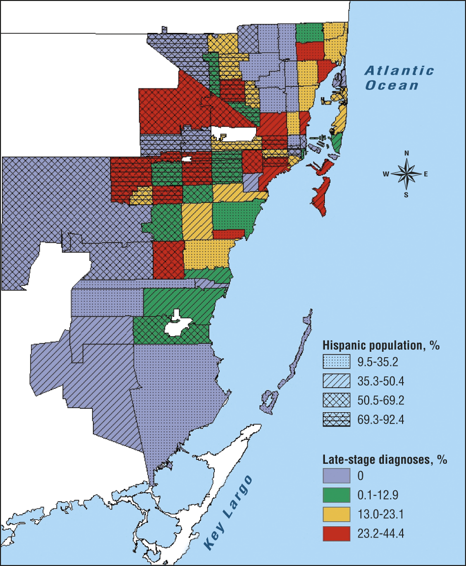 Geographic Distribution Of Melanoma In Miami Dade County Florida