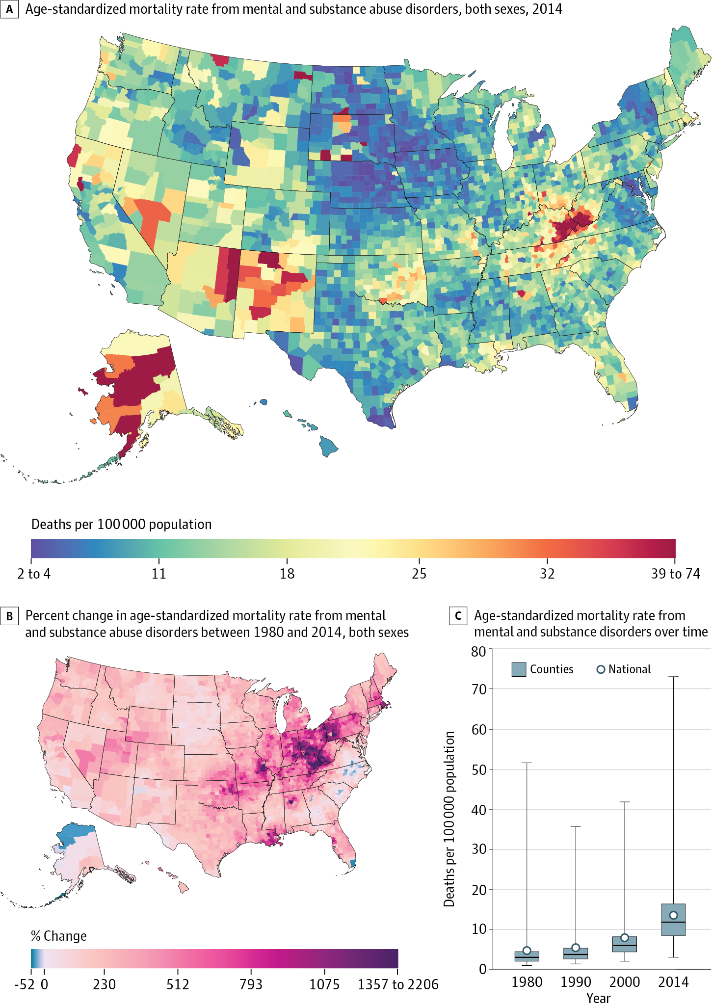 US County-Level Trends in Mortality Rates for Major Causes of Death ...