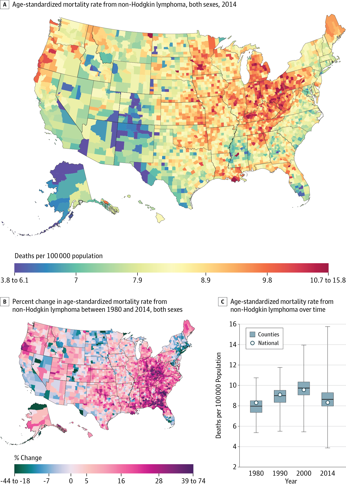 Hodgkin Illinois Map.Trends And Patterns Of Disparities In Cancer Mortality Among Us