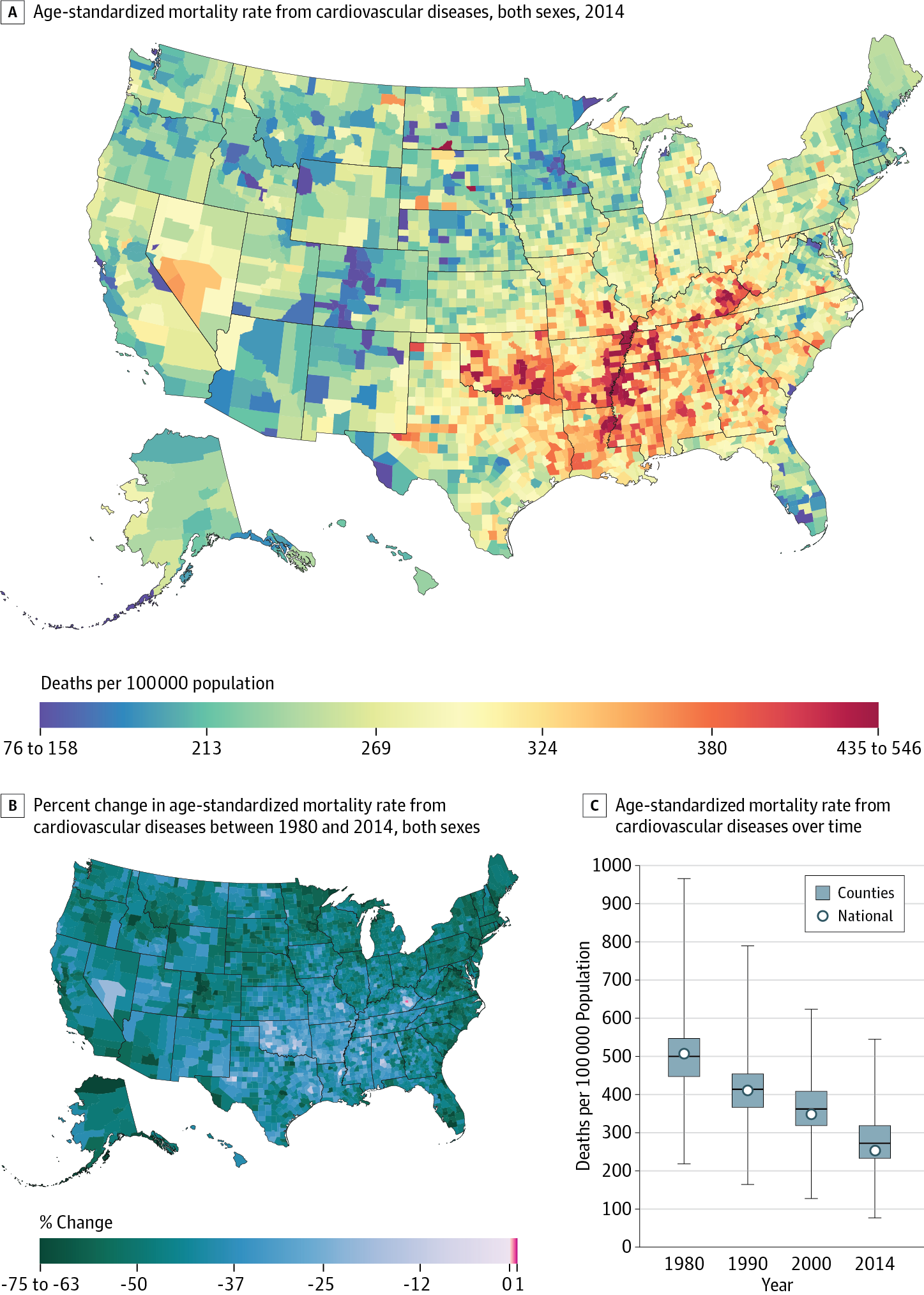Trends and Patterns of Geographic Variation in Cardiovascular ...